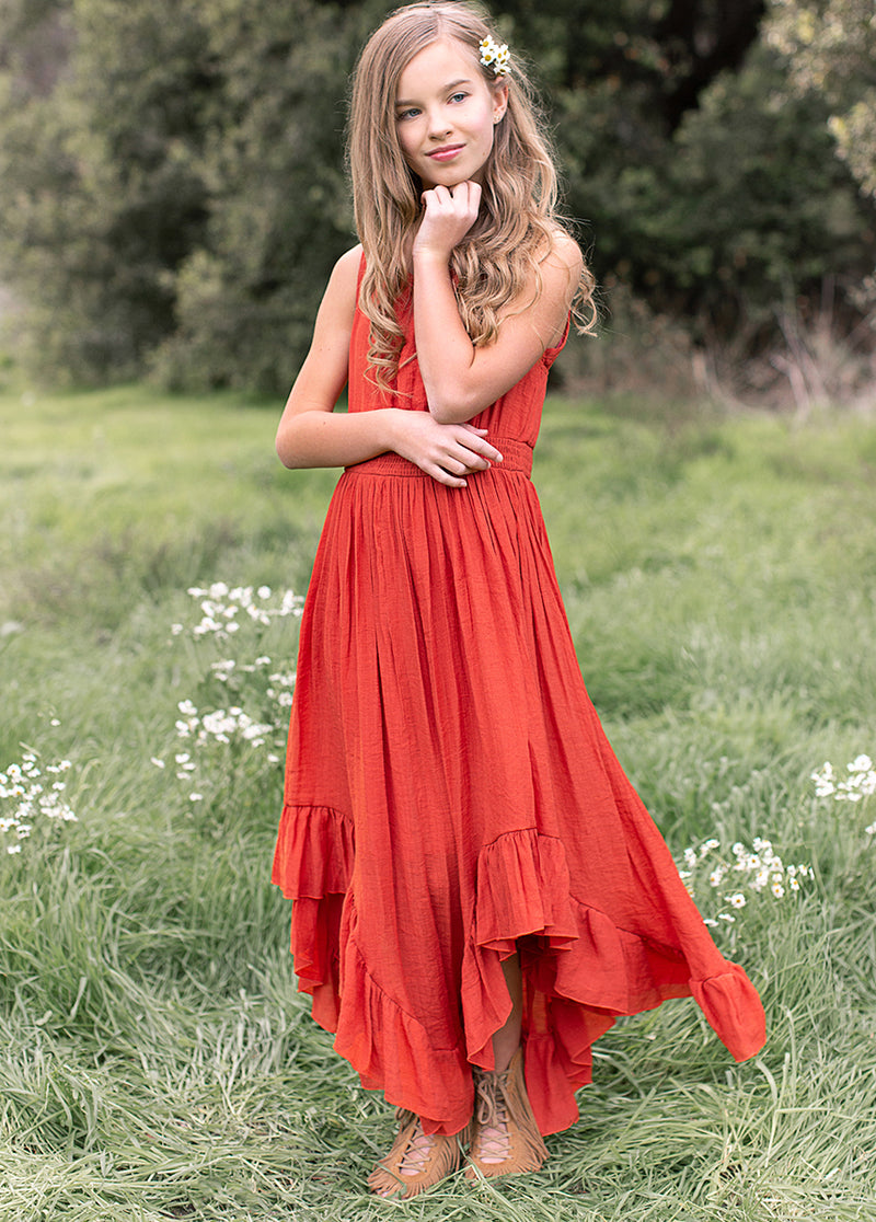 Gemma Dress in Persimmon