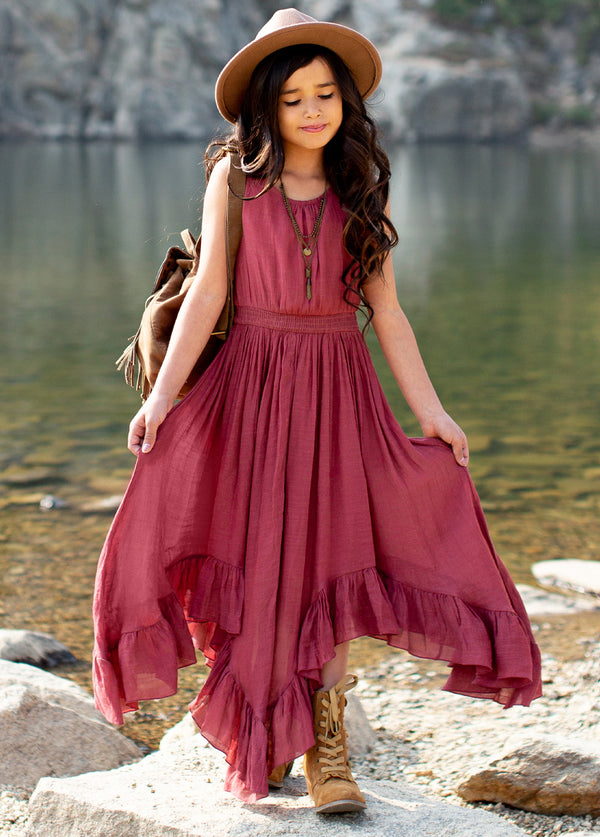 *NEW* Gemma Maxi Dress in Mesa Rose