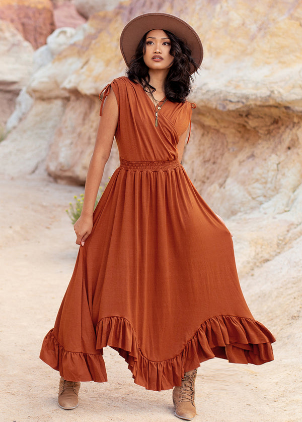 *NEW* Giovanna Dress in Cinnamon