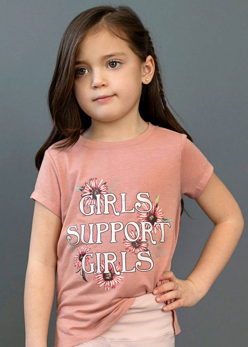 *NEW* Girls Support Girls Graphic Tee in Ash Rose