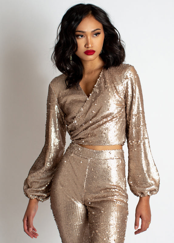 Patrice Top in Gold