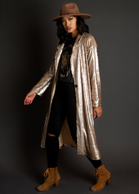 Alexia Duster in Gold