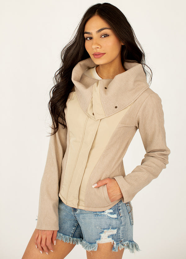 *NEW* Gwenyth Moto Jacket in Taupe