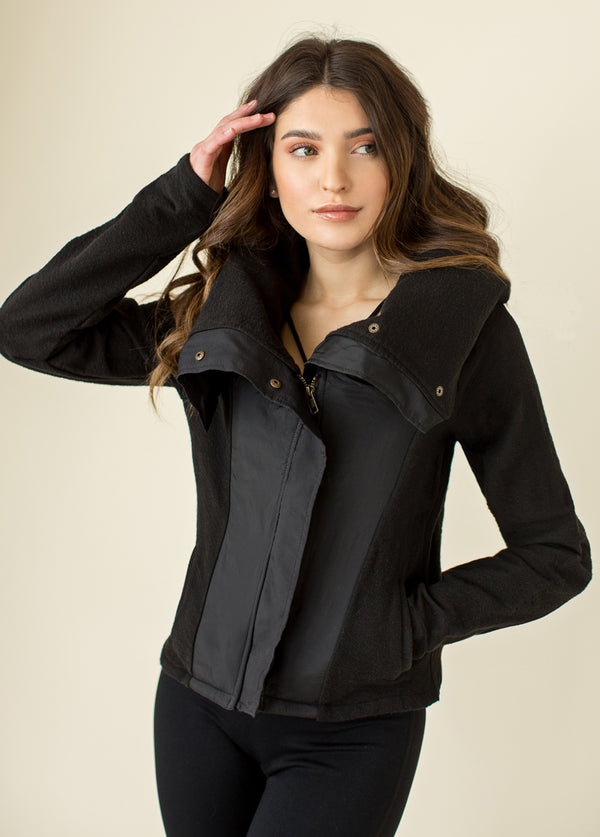 Gwenyth Moto Jacket in Black