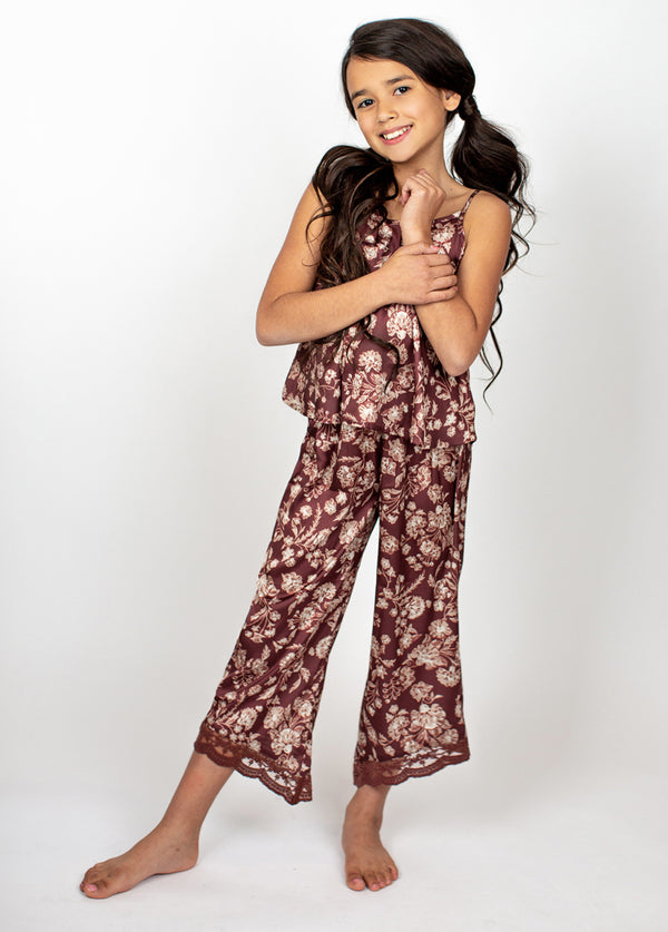 Halinka PJ Set in Damask Floral
