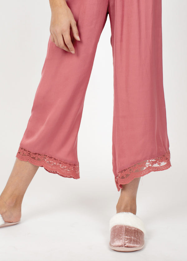 Halinka PJ Set in Dark Blush