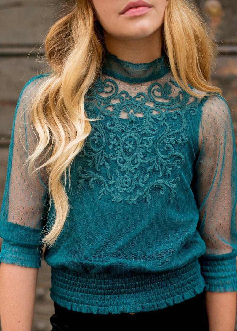 Heidi Top in Teal