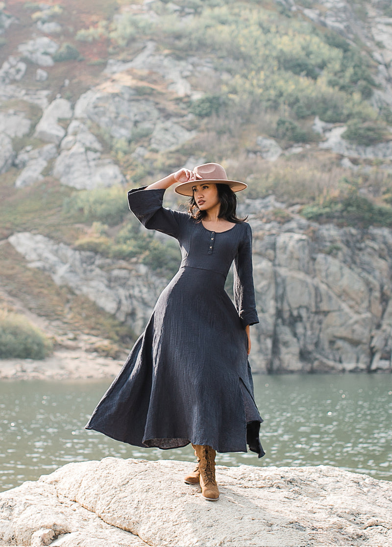 *NEW* Hina Dress in Charcoal
