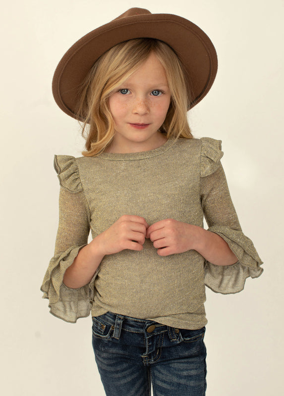 Lella Top in Shiny Heather Taupe