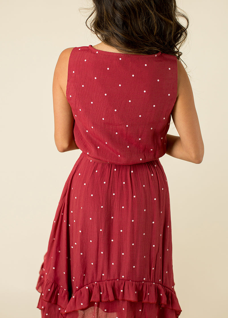 *NEW* India Dress in Rust Dot