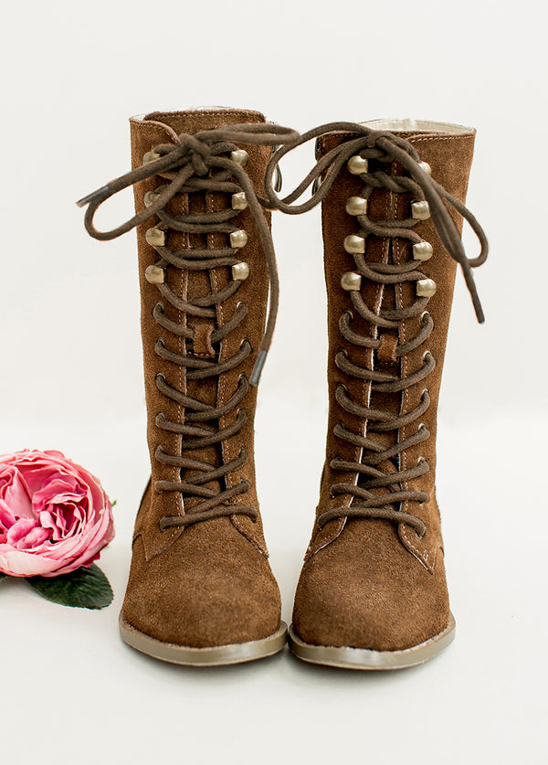 *SOLD OUT* Indy Lace-Up Leather Boot in Brown