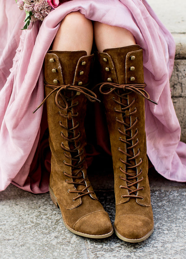 *NEW* Indy Lace-Up Leather Boot in Brown