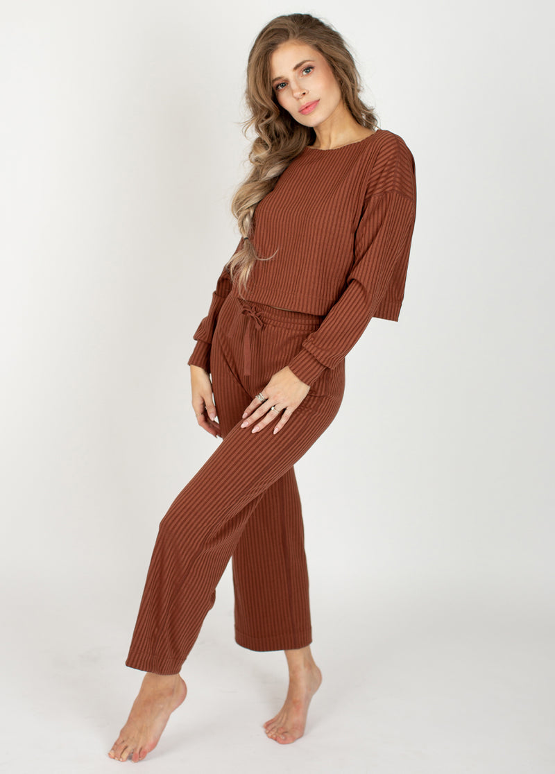 *NEW* Iona Rib Lounge Set in Brown Clay