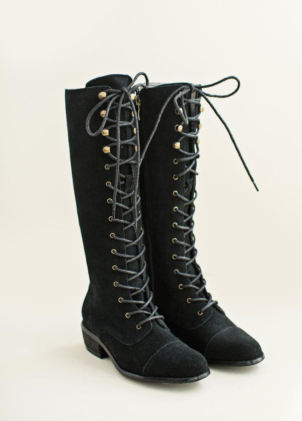 *NEW* Irelyn Lace-Up Leather Boot in Black