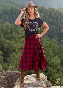 *SOLD OUT* Irma Skirt in Navy Plaid