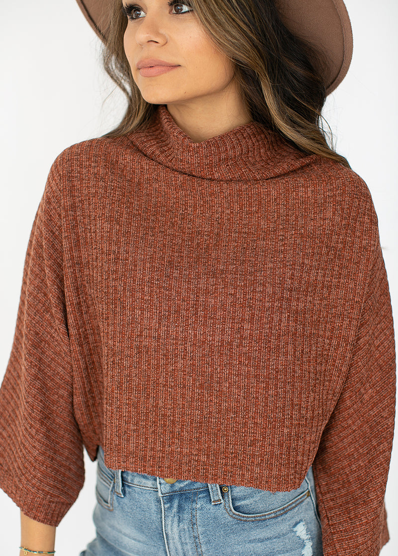 *NEW* Jacquelyn Crop Top in Brick Red