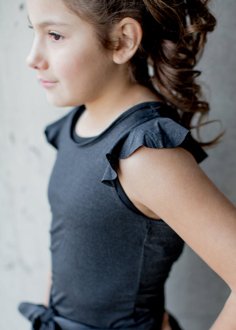 *NEW* Jalyn Wrap Top in Pewter