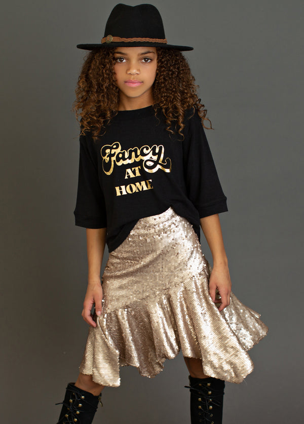 Kathy Skirt in Shiny Gold