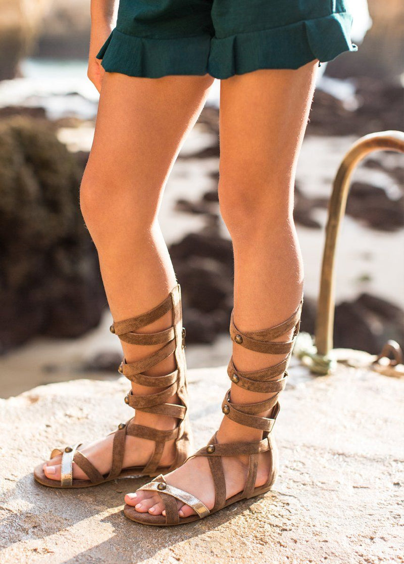Jenna Gladiator in Gold and Brown
