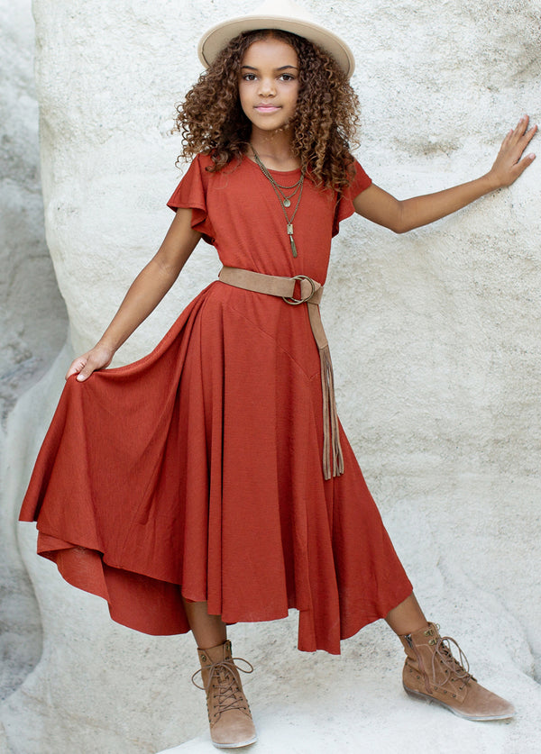 Jeselle Dress in Cinnamon