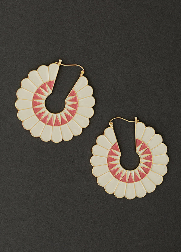 Johanna Earrings in Coral