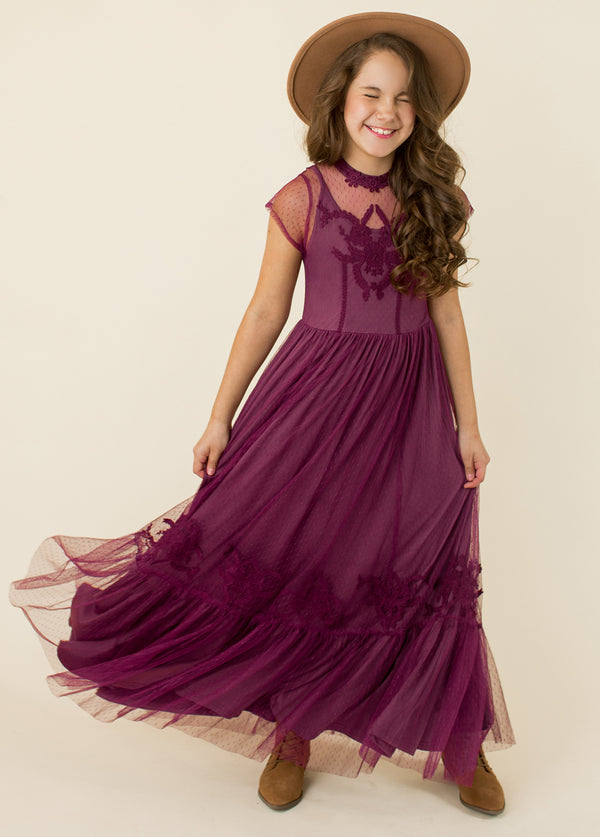 Jolie Maxi Dress in Plum
