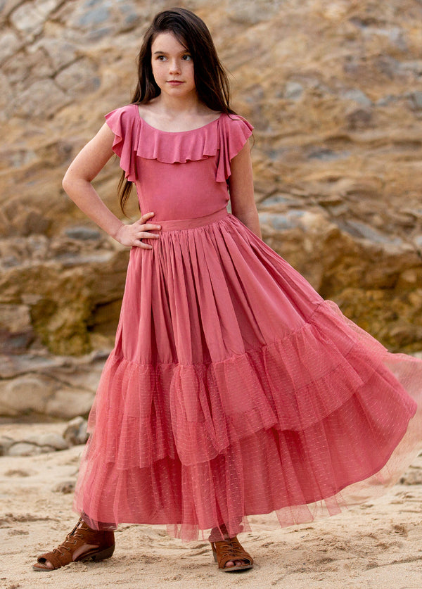 *NEW* Ada Maxi Skirt in Bright Rose