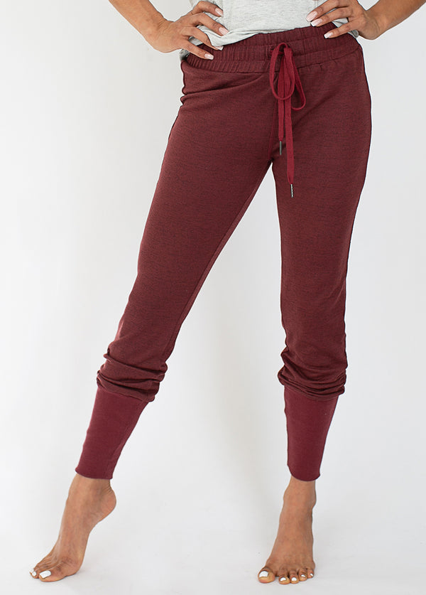 Julie Jogger in Burgundy