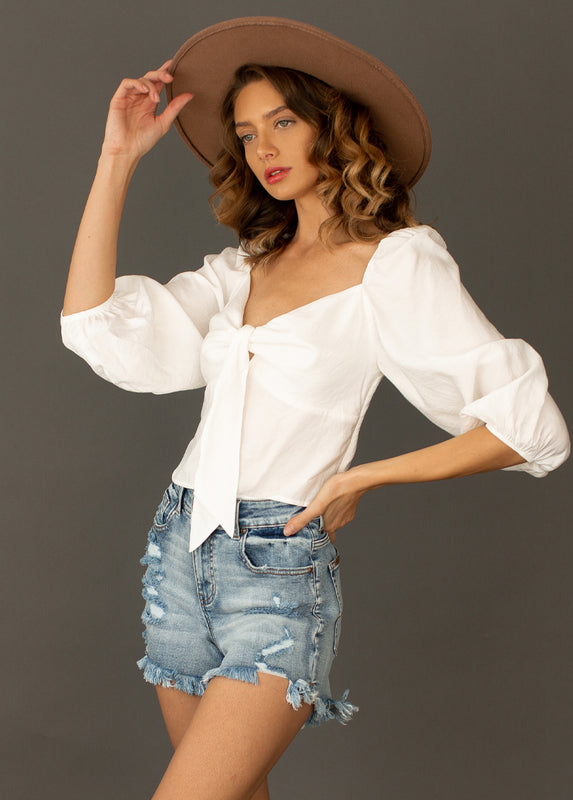 *NEW* Genni Top in True White