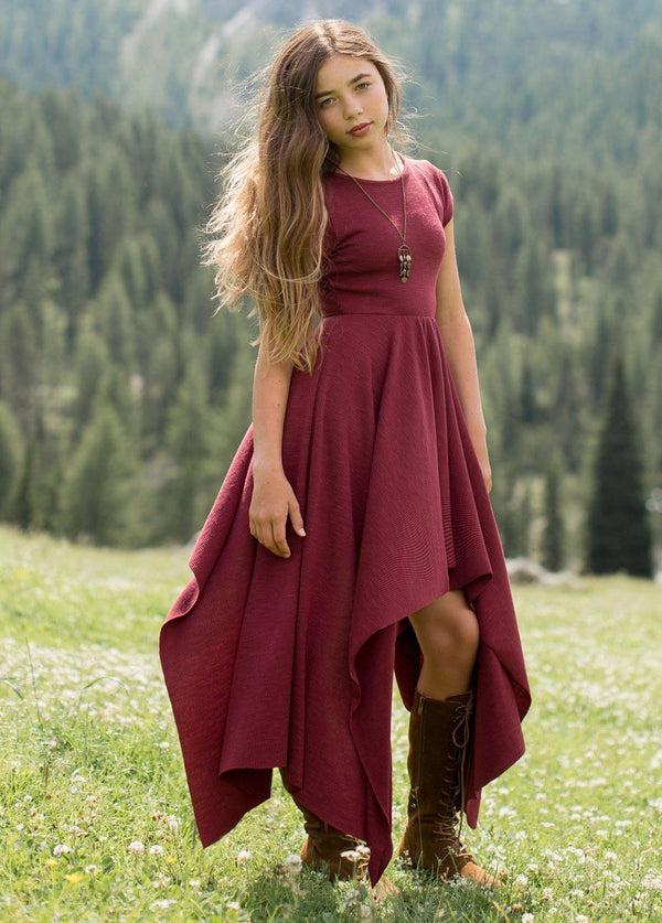 Kaia Dress in Spiced Raisin