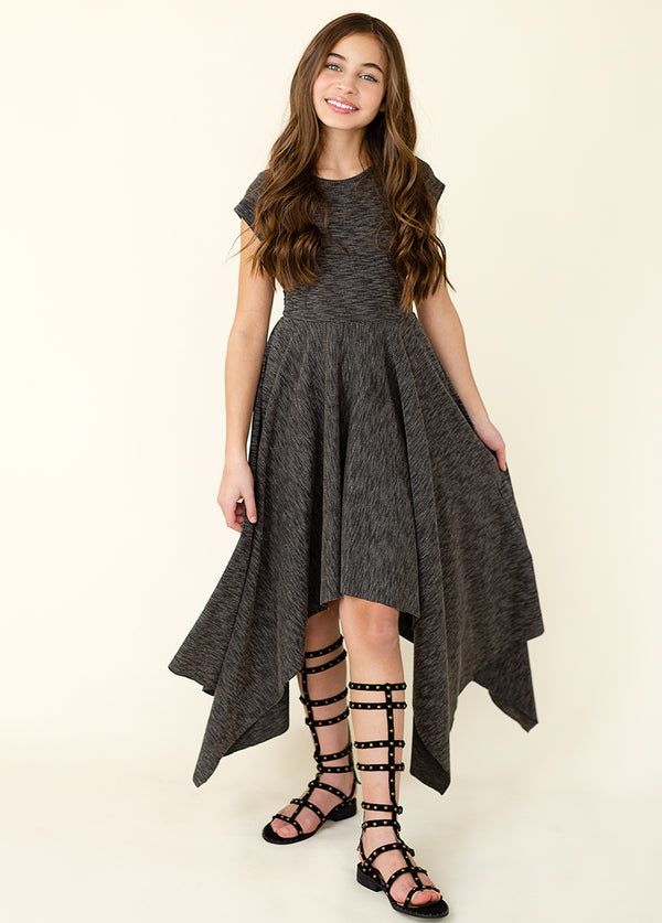Kaia Dress in Charcoal