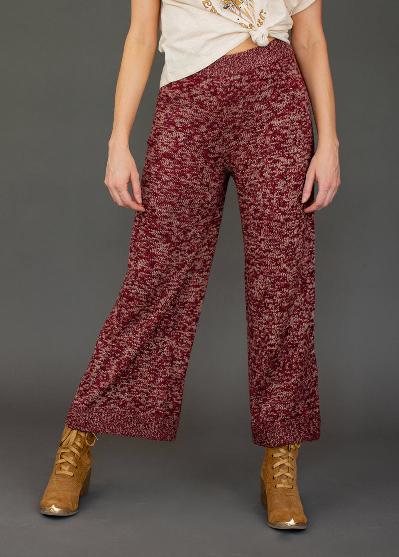 *NEW* Kali High Waisted Pant in Burgundy