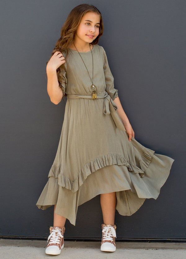 *NEW* Karalee Midi Dress in Sage Green