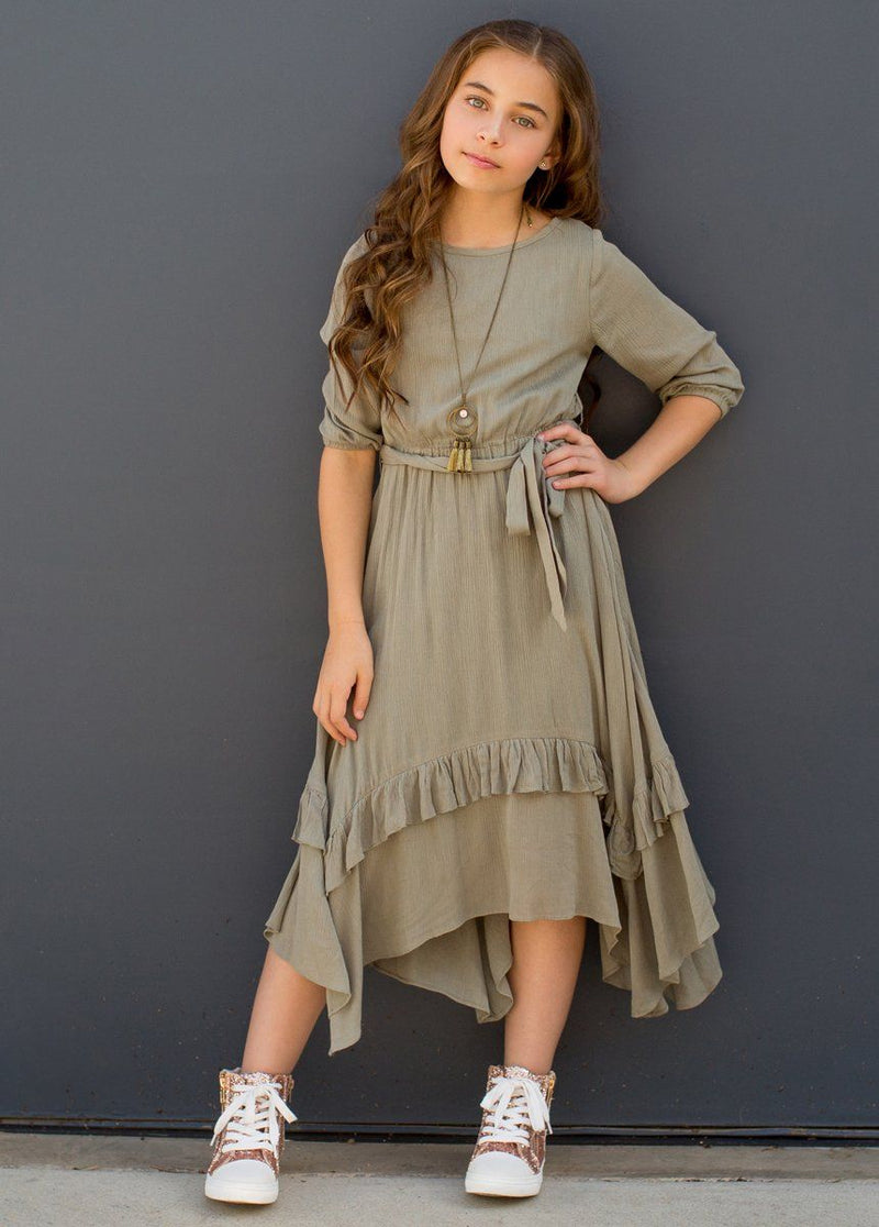 Karalee Midi Dress in Sage Green