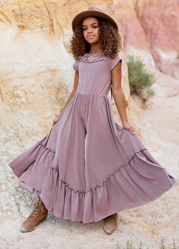 Kaylee Jumpsuit in Dusty Mauve