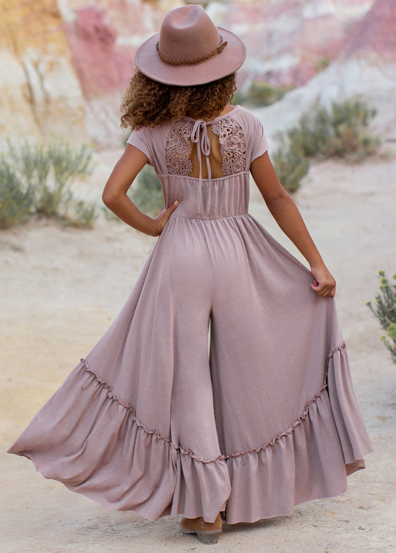 *NEW* Kaylee Jumpsuit in Dusty Mauve