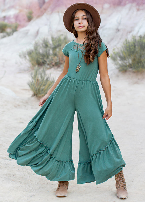 Kaylee Jumpsuit in Marine Green