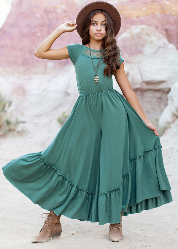 *NEW* Kaylee Jumpsuit in Marine Green