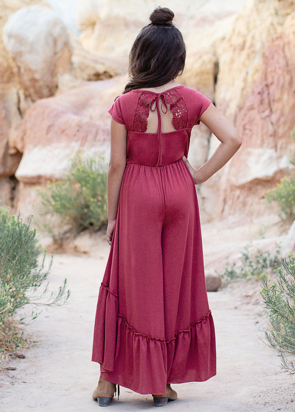 *NEW* Kaylee Jumpsuit in Rust Pink