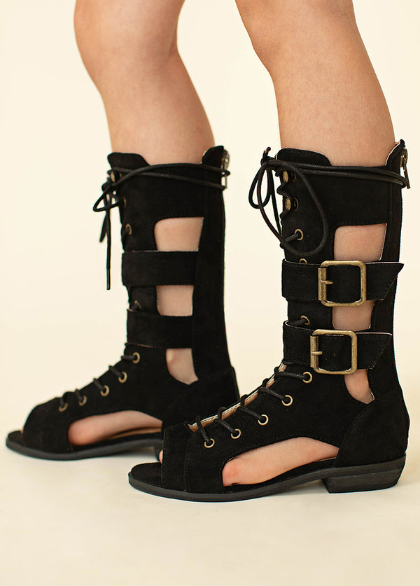 Kiki Gladiator Boot in Black