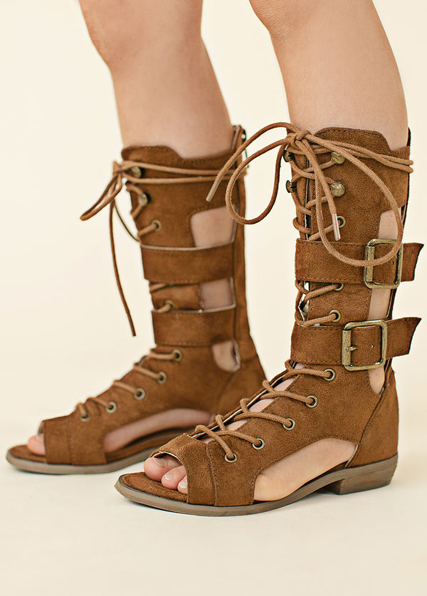 Kiki Gladiator Boot in Brown