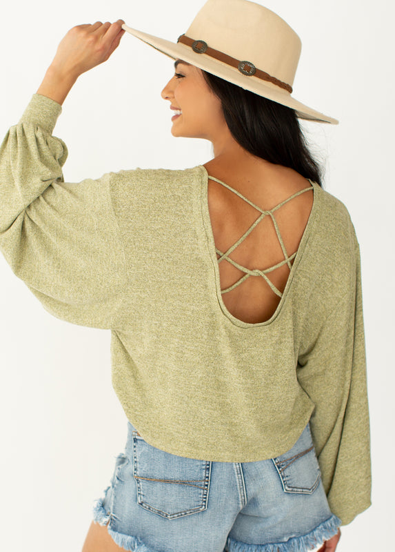 *NEW* Harper Top in Heather Olive