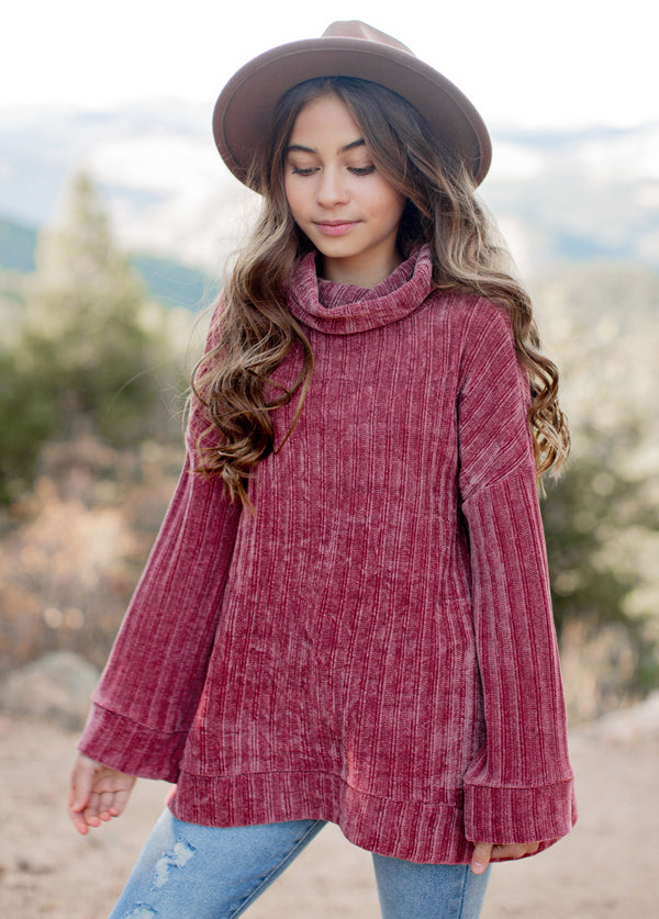 Liesel Oversized Sweater in Mauve