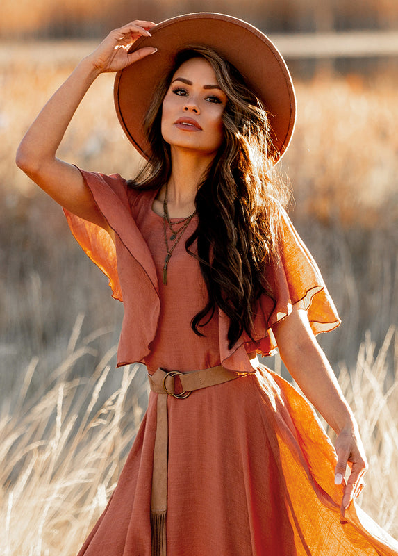 Lakynn Dress in Terracotta