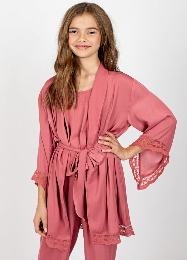 Landry Robe in Dark Blush