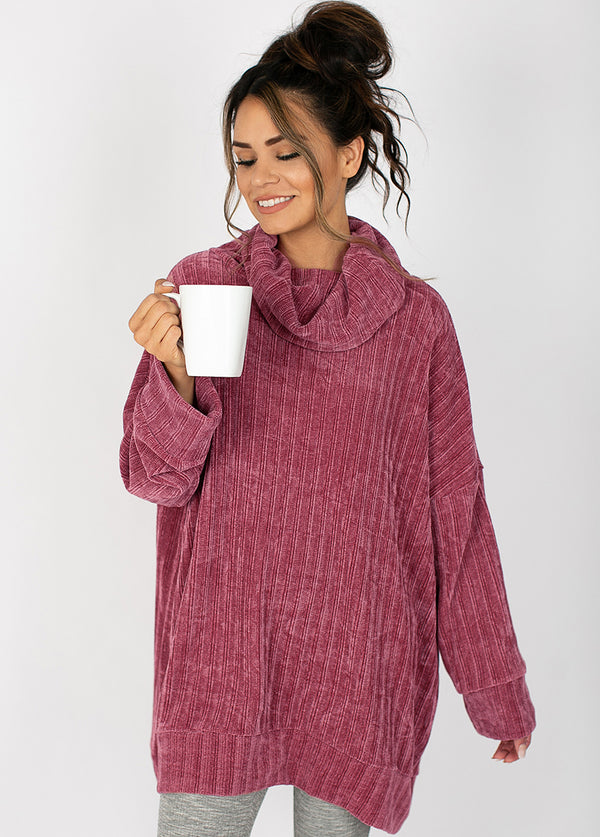 *NEW* Leal Oversized Sweater in Mauve