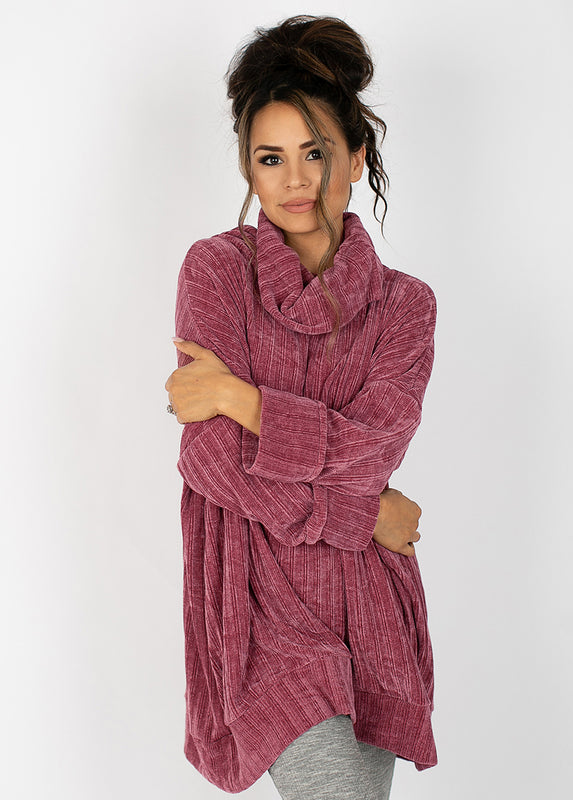 Leal Oversized Sweater in Mauve