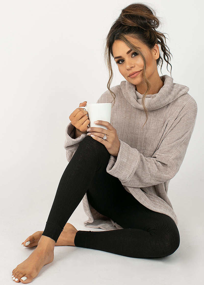 *NEW* Leal Oversized Sweater in Taupe Moss