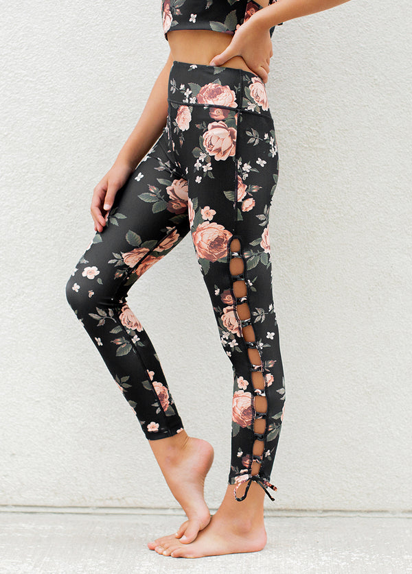 *NEW* Lia Legging in Black Floral