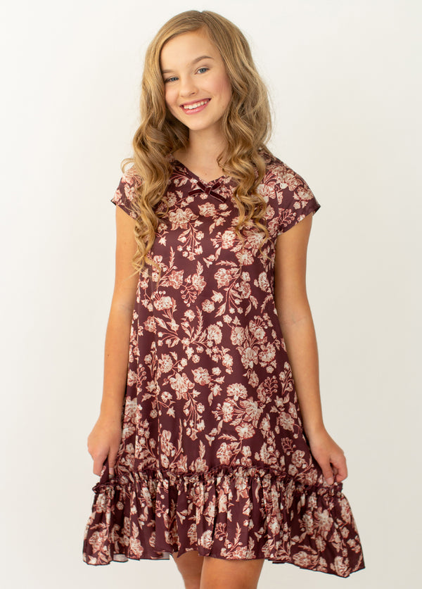 *NEW* Liana Nightgown in Damask Floral Print